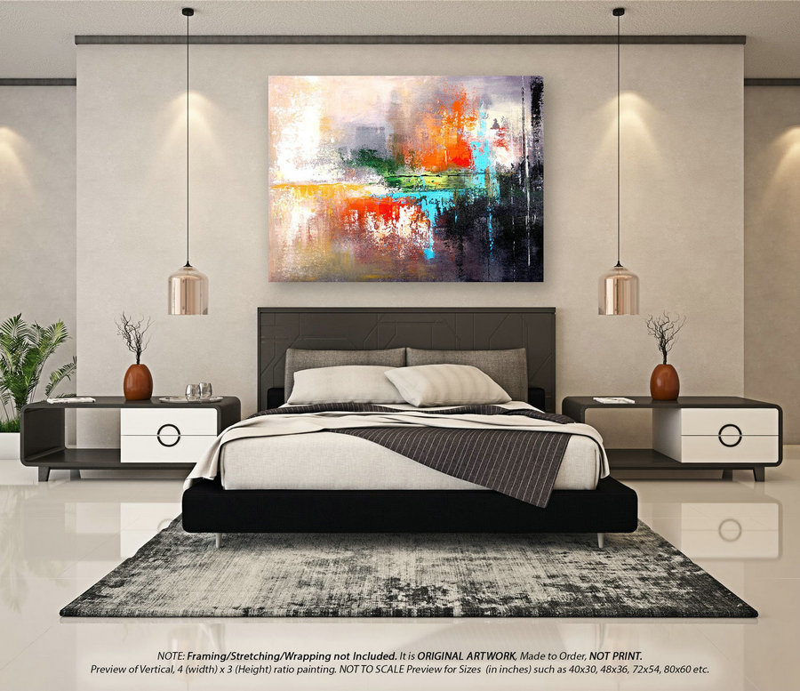 Extra Large Abstract Art - Original Painting, Acrylic Painting, Bathroom Wall Art, Oil Painting, Abstract Canvas Art, Original Art YNS024