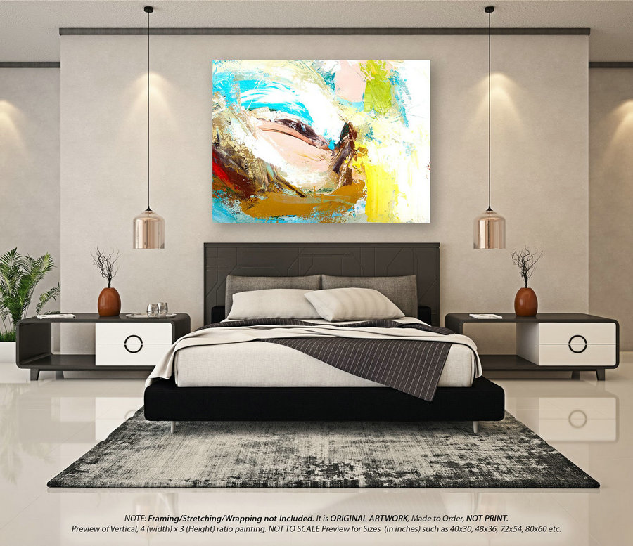 Original Acrylic Abstract Painting - Painting On Canvas, Abstract Wall Art, Oil Painting, Modern Wall Decor, Housewarming Gift YNS032
