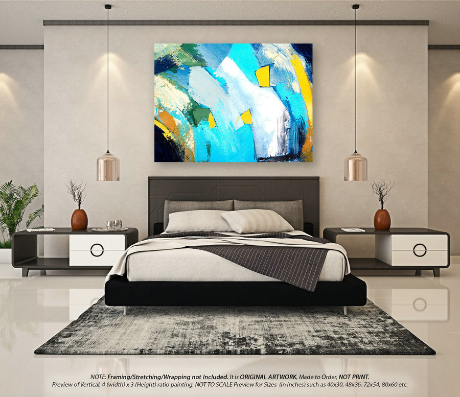 Modern Abstract Art - Abstract Painting, Extra Large Wall Art, Original Painting, Oil Painting, Acrylic Painting, Canvas Wall Art YNS036