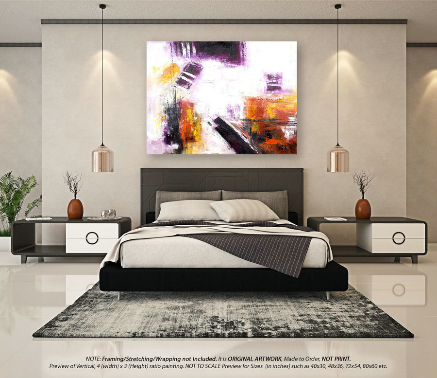 Modern Abstract Painting Large Abstract Art - Original Paintings, Modern Abstract Art, Wall Art Decor, Original Paintings on Canvas YNS142