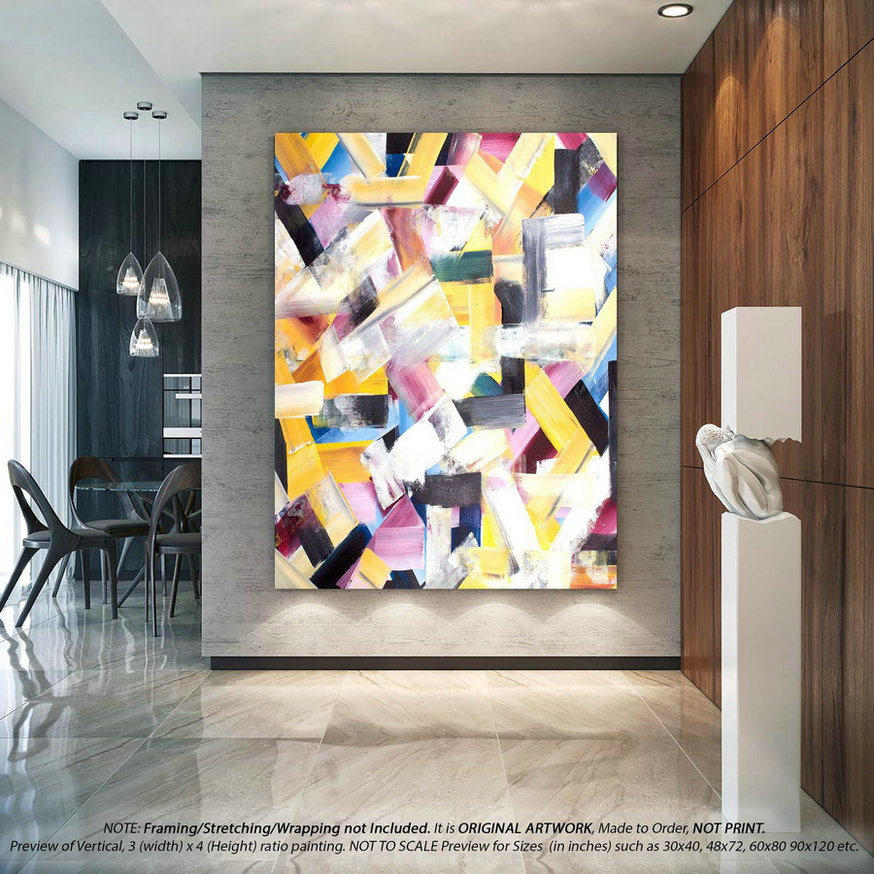 Original Acrylic Abstract Painting Abstract Wall Art - Wall Art Decor, Original Paintings on Canvas, Modern Wall Art, Office D??cor YNS144