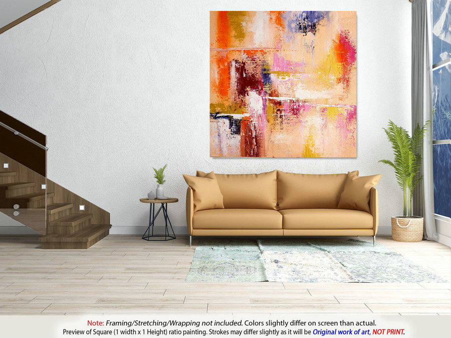 Office Decor - Abstract Painting, Original Art, Oil Painting, Extra Large Wall Art, Painting On Canvas, Abstract Acrylic, Modern Art DMS024