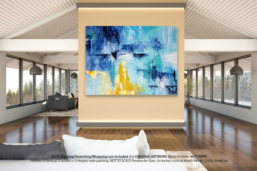 Oversized Wall Art - Abstract Paintings on Canvas, Modern Art, Farmhouse Wall Decor, Large Original Art, Modern Artwork on Canvas DMS038