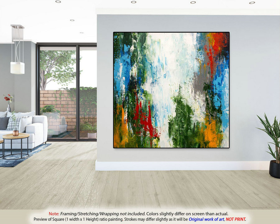 Original Abstract Painting on Canvas - Modern Wall Art,Housewarming Gift, Large wall Art,Office Decor, New Home Gift, Canvas Wall Art DMS039