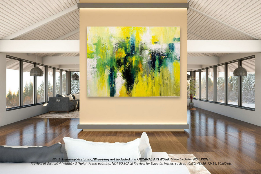 Extra Large Abstract Painting- Kitchen Wall Decor, Original Pallate Knife Painting, Acrylic Painting On Canvas, Original Oil Painting DMS083