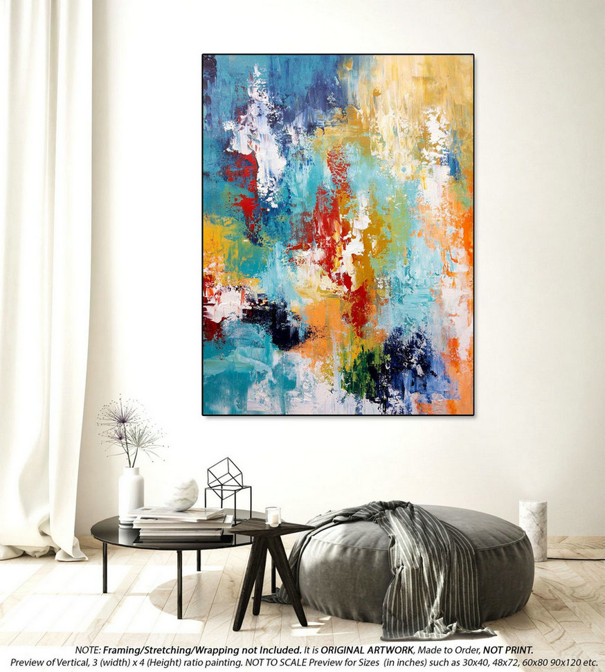 Original Abstract Painting Modern Abstract Art - Original Wall Art, Original Acrylic Abstract Painting, Abstract Painting on Canvas DMS090
