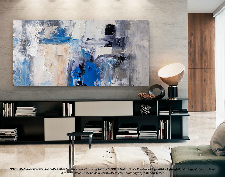 Wall Art Decor Large Abstract Art- Original Abstract Painting, Oversized Wall Art, Extra Large Abstract Wall Art, Modern Dorm Decor DMS099