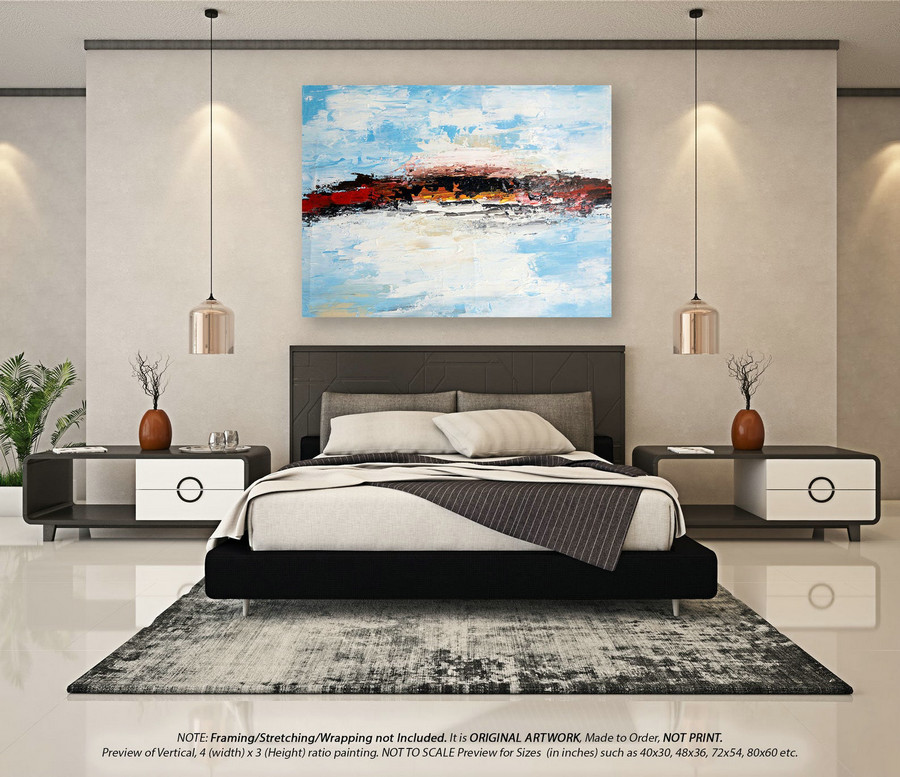 Modern Abstract Painting Wall Art D??cor - Abstract Painting On Canvas, Canvas Wall Art, Original Abstract Art, Oversized Canvas Art DMS075