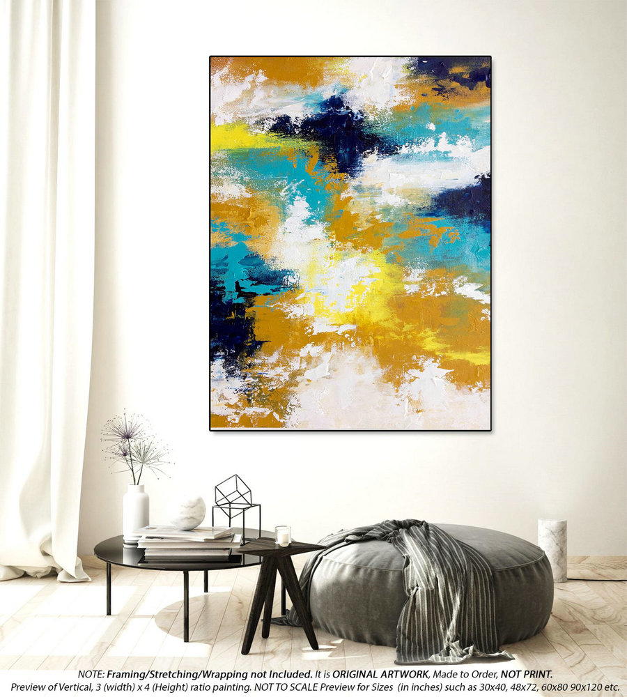 Original Abstract Painting Oversized Canvas Art - Oversized Paintings Canvas, Original Oil Painting, Original Wall Art, Art D??cor DMS096