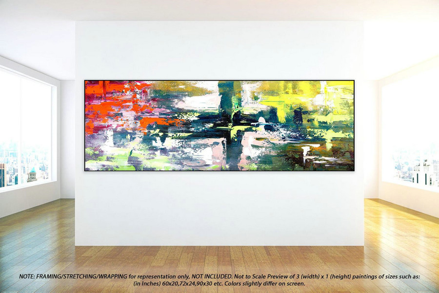 Original Abstract Painting - Acrylic Painting, Canvas Wall Art, Abstract Oil Painting On Canvas, Extra Large Painting, Huge Artwork YNS059