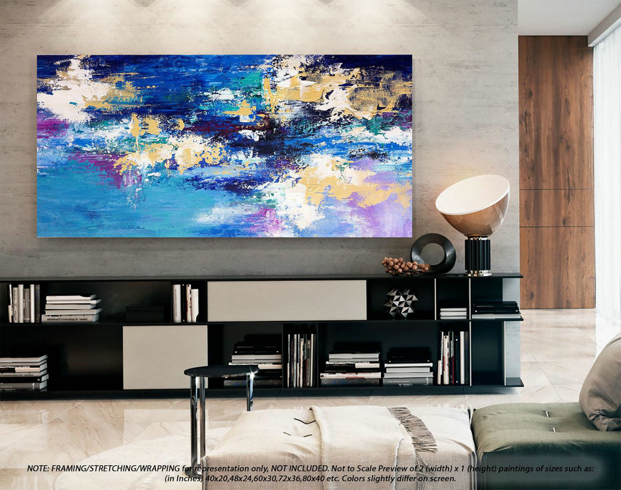 Wall Art Decor Large Abstract Art - Abstract Painting on canvas, Original Paintings on Canvas, Modern Abstract Art , Office Wall Art DMS092