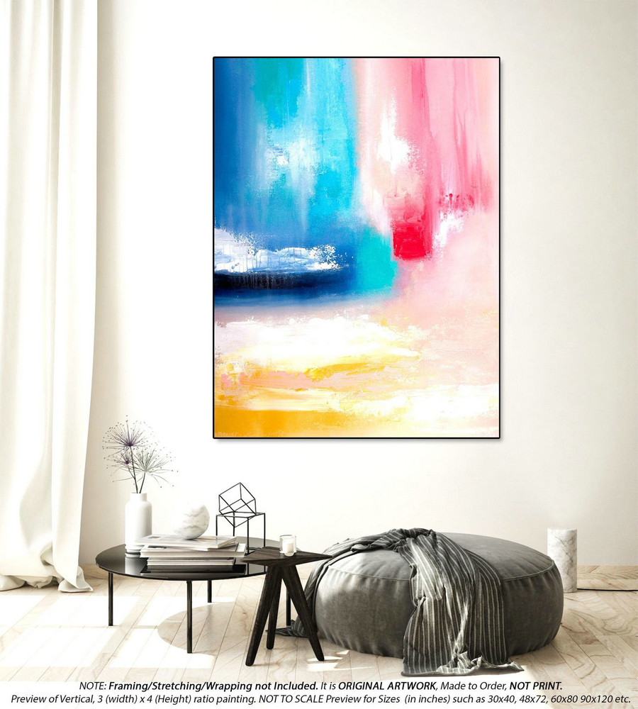 Office Decor Large Abstract Painting - Large Abstract Canvas Art, Oversized Paintings, Original Paintings on Canvas, Canvas Wall ArtYNS131
