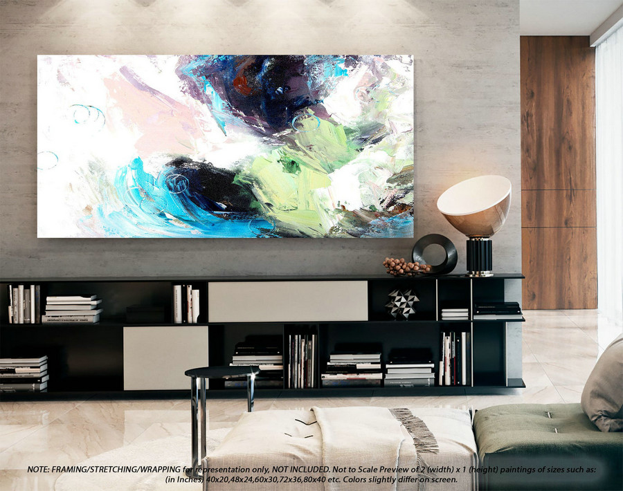 Extra Large Abstract Painting Office Decor - Original Paintings, Canvas Wall Art, Abstract Painting on Canvas, Extra Large Wall ArtYNS118