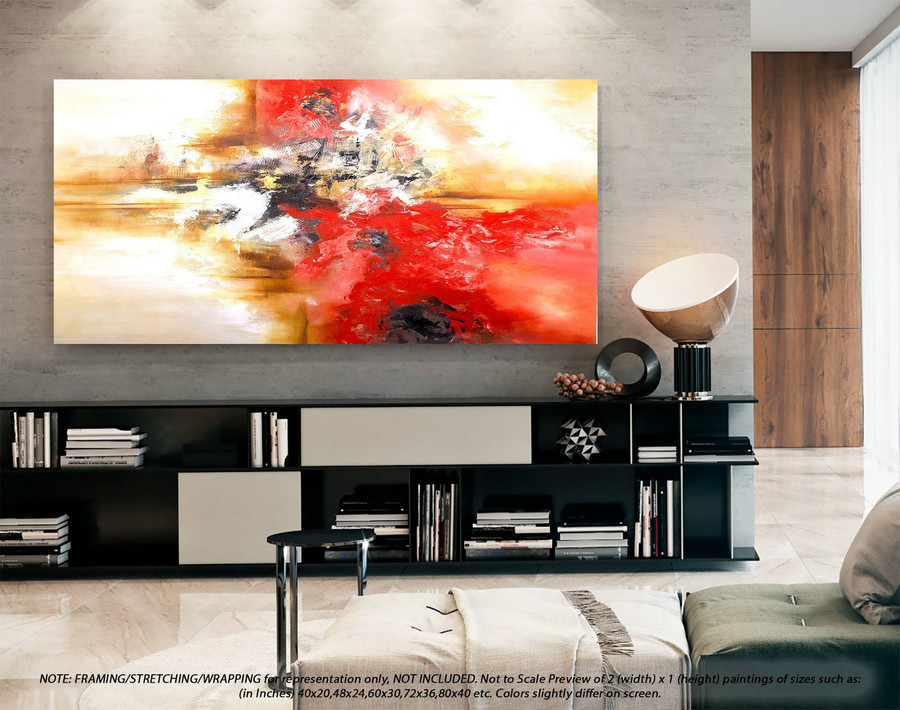 Modern Abstract Painting Wall Art Decor - Modern Abstract Art, Original Wall Art, Original Paintings, Original Paintings on CanvasYNS152