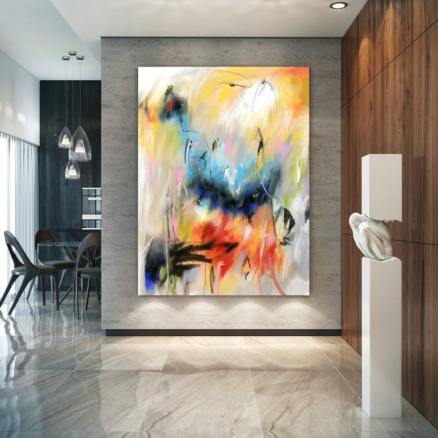 Extra Large Wall Art Decor for Home Office Original Painting,Painting on  Canvas Modern Wall Decor Contemporary Art, Abstract Painting PaC183