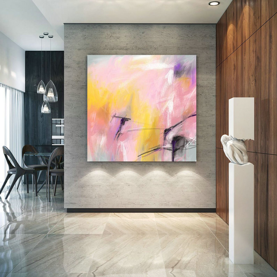 Extra Large Art on Canvas Art Deco Extra Original Painting,Painting on Canvas Modern Wall Decor Contemporary Art, Abstract Painting Pac251