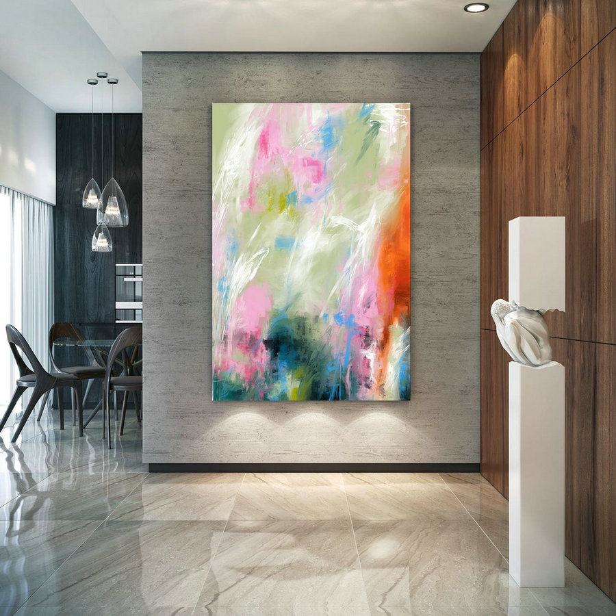 Extra Large Wall Art Palette Knife Artwork Original Painting,Painting on Canvas Modern Wall Decor Contemporary Art, Abstract Painting PaC368