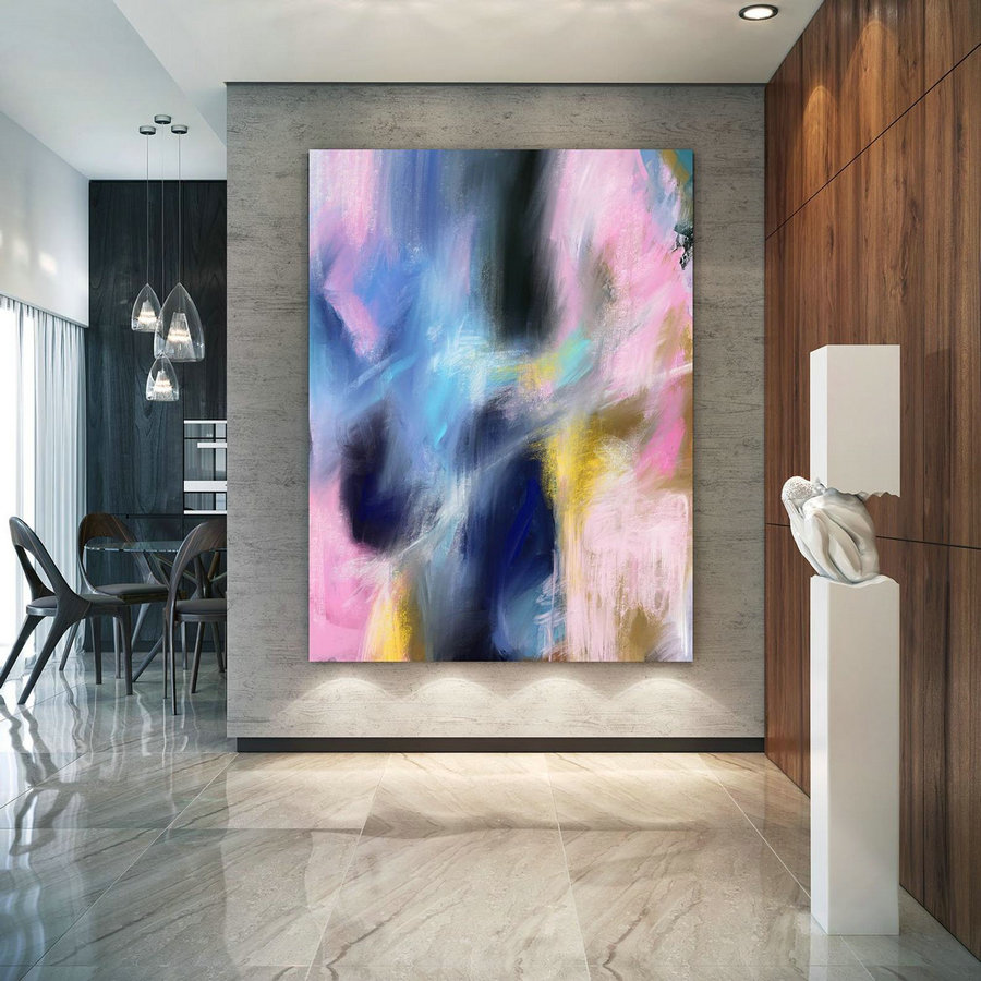 Extra Large Wall Art Palette Knife Artwork Original Painting,Painting on Canvas Modern Wall Decor Contemporary Art, Abstract Painting Pac262