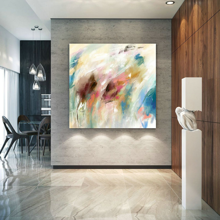 Extra Large Wall Art Palette Knife Artwork Original Painting,Painting on Canvas Modern Wall Decor Contemporary Art, Abstract Painting PaC396