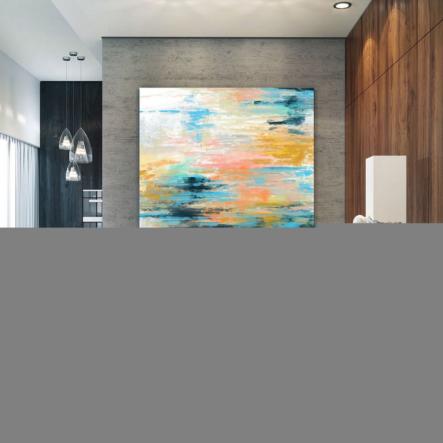 Extra Large Wall Art Palette Knife Artwork Original Painting,Painting on Canvas Modern Wall Decor Contemporary Art, Abstract Painting Pac349