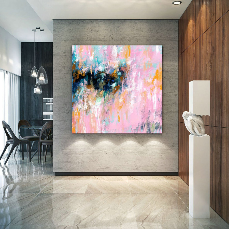 Extra Large Wall Art Palette Knife Artwork Original Painting,Painting on Canvas Modern Wall Decor Contemporary Art, Abstract Painting Pdc066