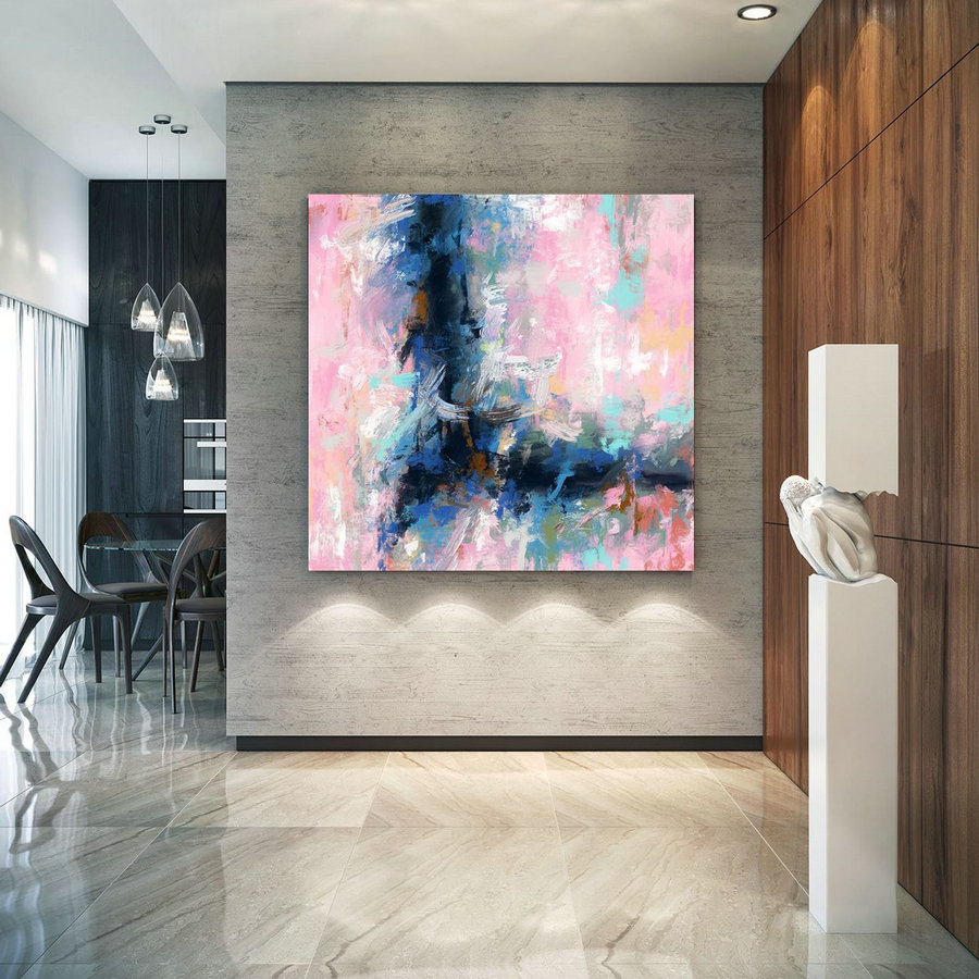 Extra Large Wall Art Palette Knife Artwork Original Painting,Painting on Canvas Modern Wall Decor Contemporary Art, Abstract Painting Pdc071