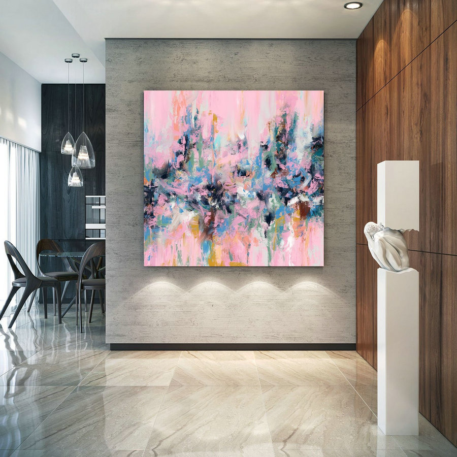 Extra Large Wall Art Palette Knife Artwork Original Painting,Painting on Canvas Modern Wall Decor Contemporary Art, Abstract Painting Pdc082