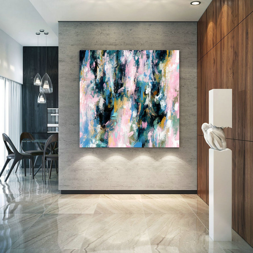 Extra Large Wall Art Palette Knife Artwork Original Painting,Painting on Canvas Modern Wall Decor Contemporary Art, Abstract Painting Pdc084
