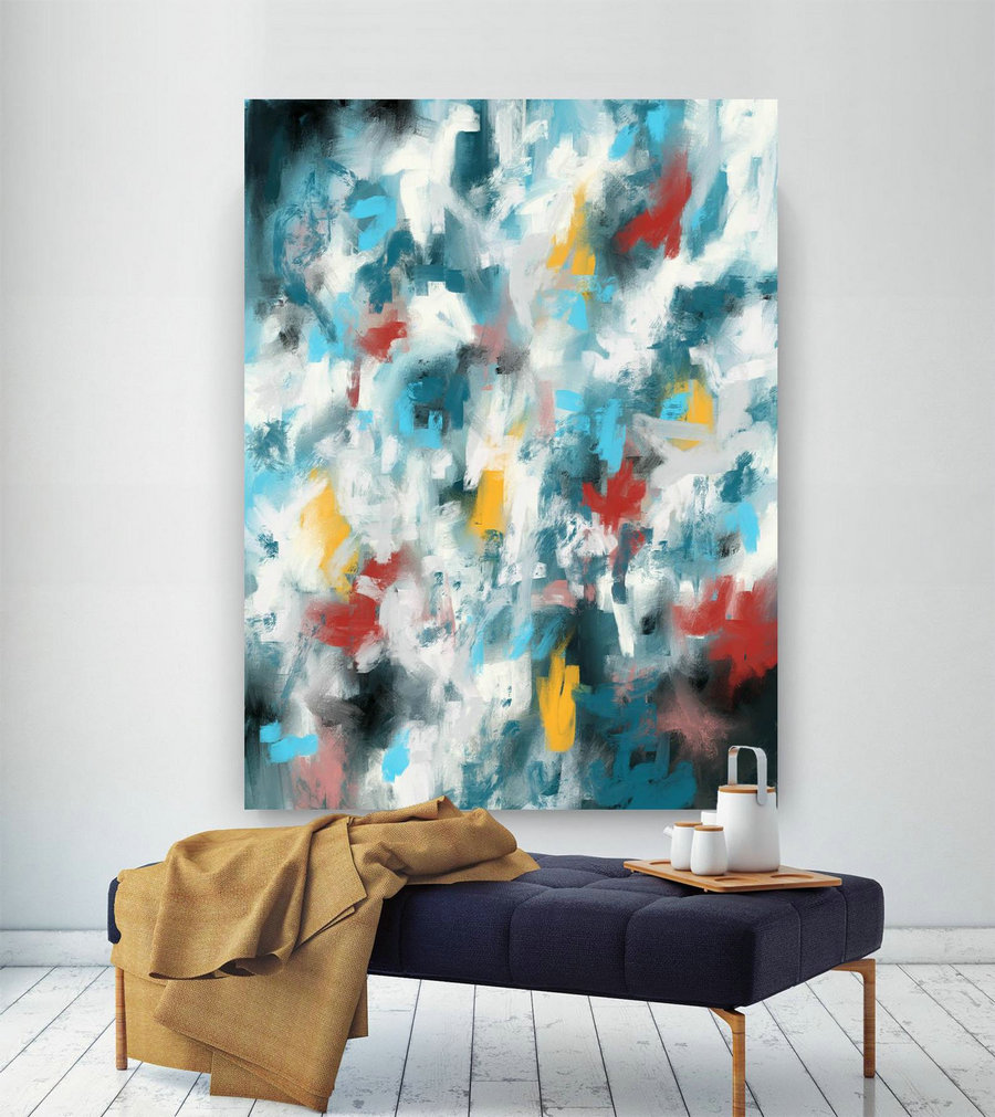 Extra Large Wall Art Palette Knife Artwork Original Painting,Painting on Canvas Modern Wall Decor Contemporary Art, Abstract Painting Pic023