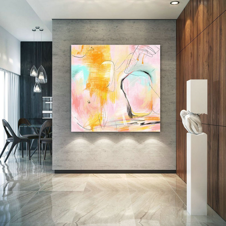 Abstract Canvas Original Paintings Abstract Paintings Wall Art for Luxury Interiors Living room decor Huge Size Art, Office Wall Art Pac180