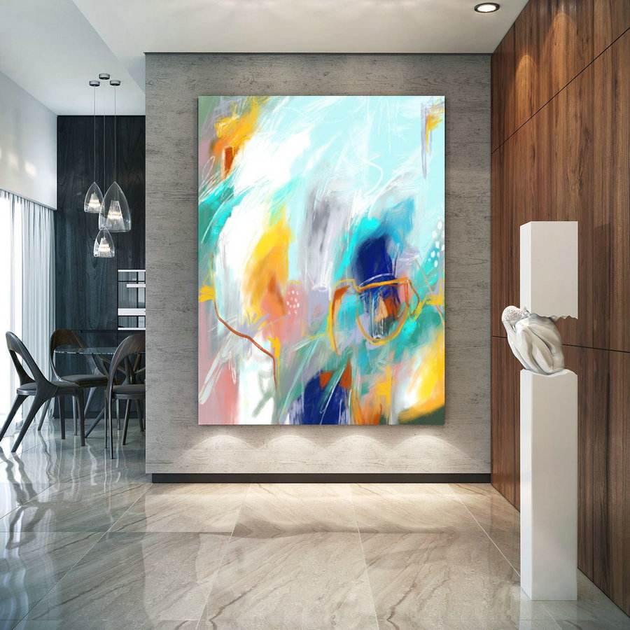 Abstract Canvas Original Paintings Abstract Paintings Wall Art for Luxury Interiors Living room decor Huge Size Art, Office Wall Art Pac153
