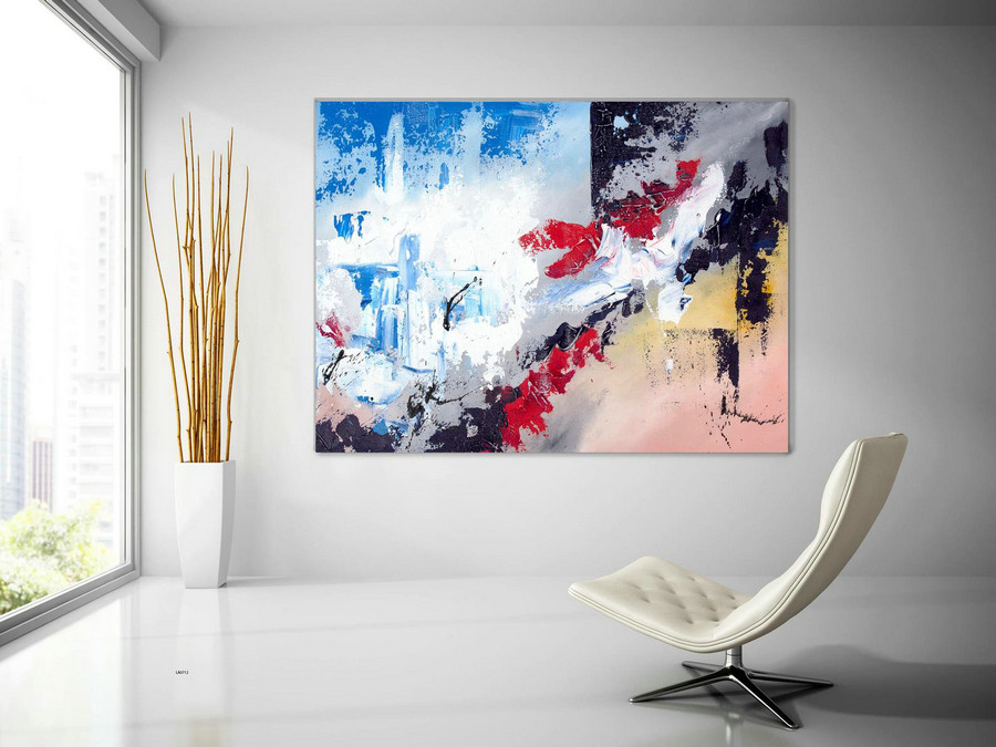 Extra Large Wall Art Original Handpainted Contemporary XL Abstract Painting Horizontal Vertical Huge Size Art Bright and Colorful laC712