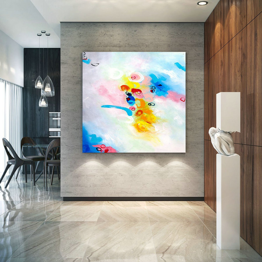 Extra Large Wall Art Original Art Bright Abstract Original Painting On Canvas Extra Large Artwork Contemporary Art Modern Home Decor lac655