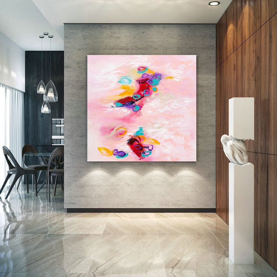 Extra Large Wall Art Original Art Bright Abstract Original Painting On Canvas Extra Large Artwork Contemporary Art Modern Home Decor lac657