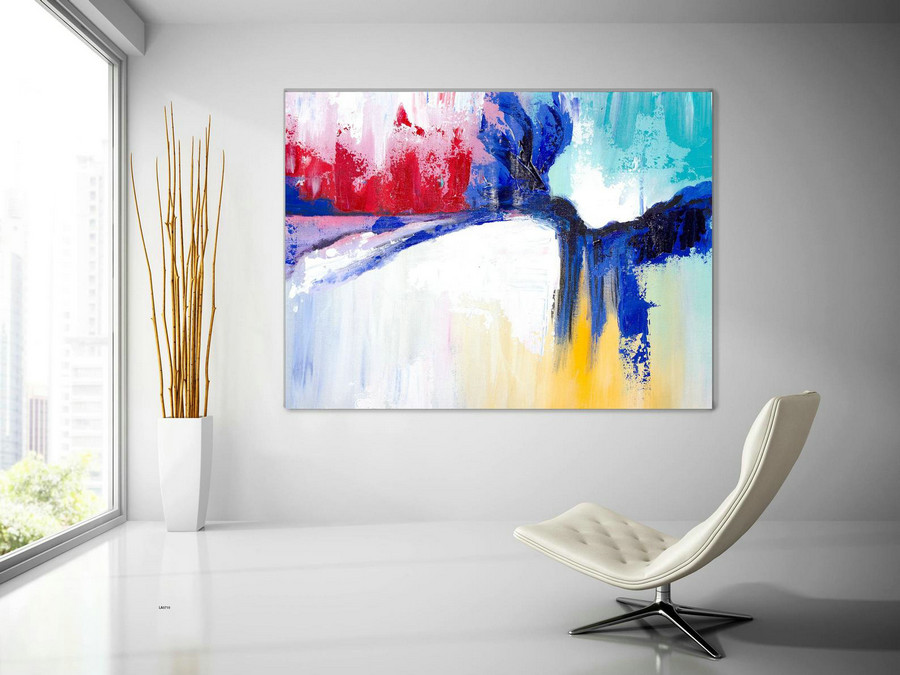 Extra Large Wall Art Original Handpainted Contemporary XL Abstract Painting Horizontal Vertical Huge Size Art Bright and Colorful lac710