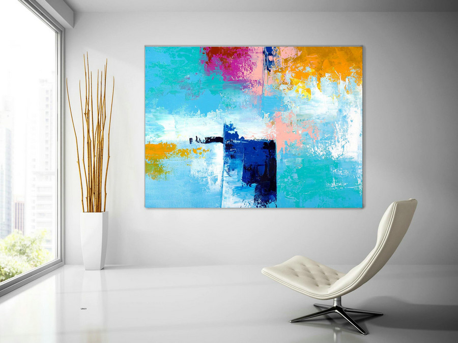 Extra Large Wall Art Original Painting on Canvas Contemporary Wallart Modern Abstract Living Room Wall ArtColorful Abstract Painting lac631