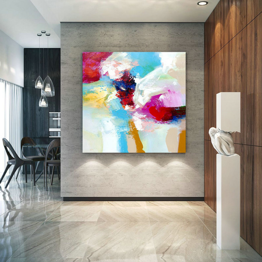 Extra Large Wall Art on Canvas, Original Abstract Paintings , Contemporary Art, Mdoern Living Room Decor ,Office Oversize Artworks lac632