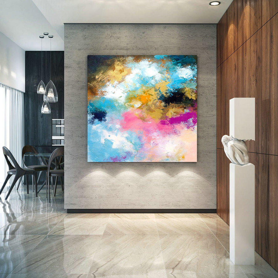 Extra Large Wall Art Original Art Bright Abstract Original Painting On Canvas Extra Large Artwork Contemporary Art Modern Home Decor lac669