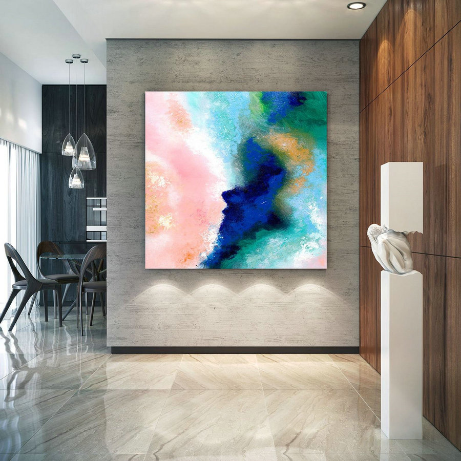Extra Large Wall Art on Canvas, Original Abstract Paintings , Contemporary Art, Mdoern Living Room Decor ,Office Oversize Artworks lac630