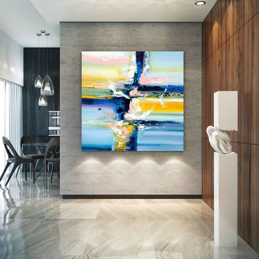 Extra Large Wall Art Original Art Bright Abstract Original Painting On Canvas Extra Large Artwork Contemporary Art Modern Home Decor lac659