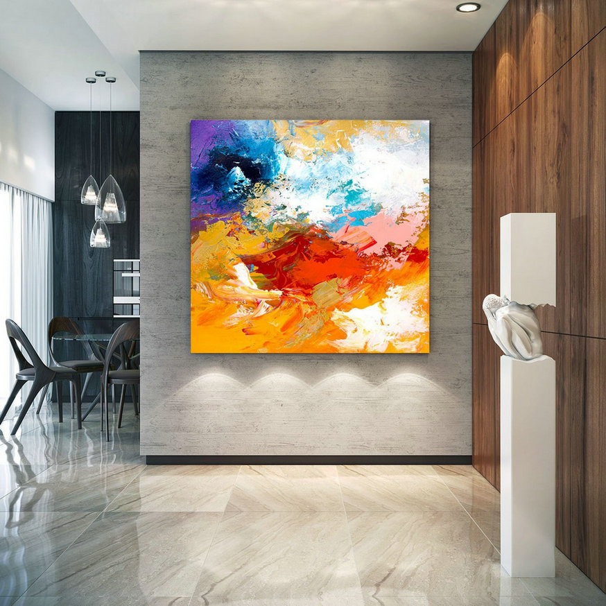 Extra Large Wall Art on Canvas, Original Abstract Paintings , Contemporary Art, Mdoern Living Room Decor ,Office Oversize Artworks lac664