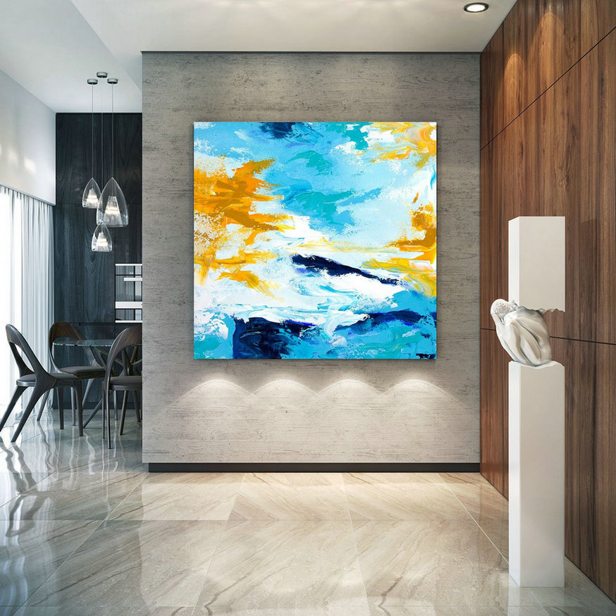 Extra Large Wall Art Palette Knife Artwork Original Painting on Canvas Huge Size Art Modern Wall Decor Contemporary Art lac717
