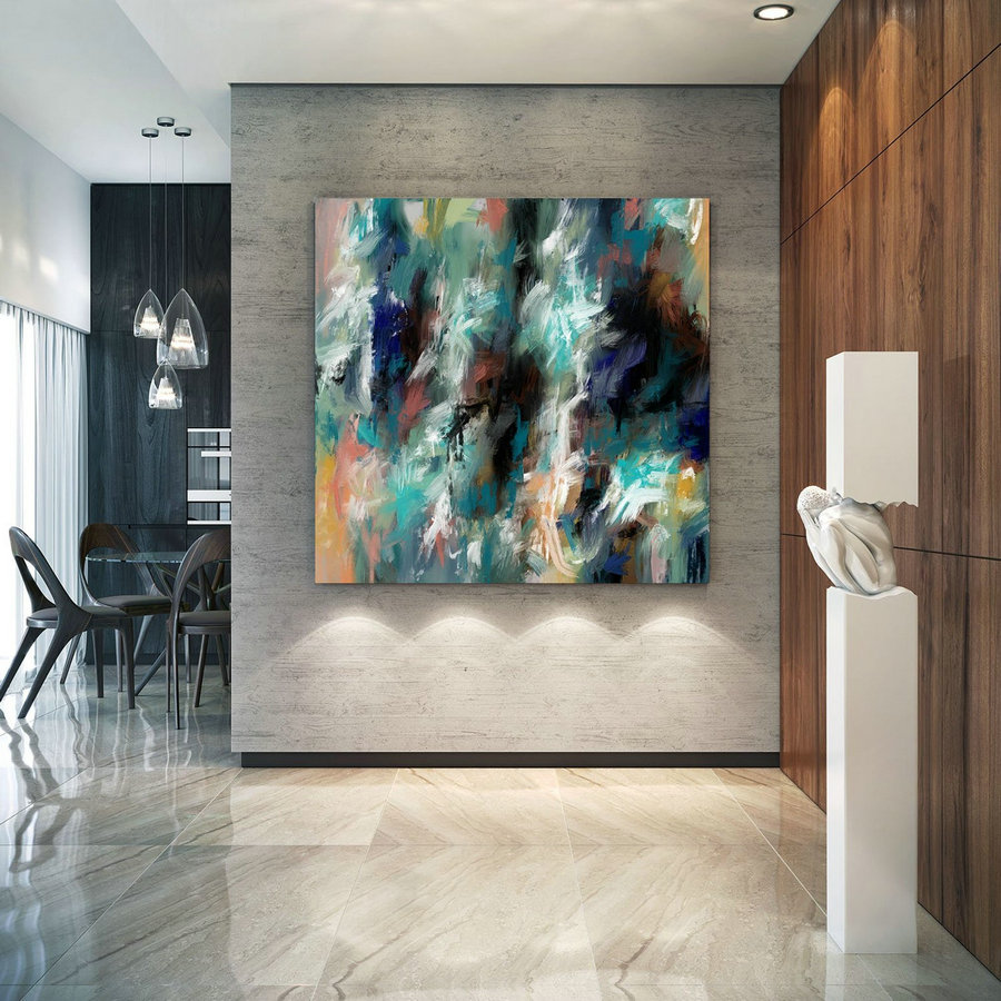 Extra Large Wall Art Palette Knife Artwork Original Painting,Painting on Canvas Modern Wall Decor Contemporary Art, Abstract Painting Pac409