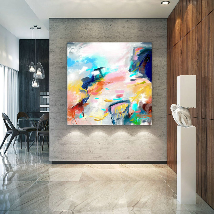 Extra Large Wall Art Palette Knife Artwork Original Painting,Painting on Canvas Modern Wall Decor Contemporary Art, Abstract Painting Pac371