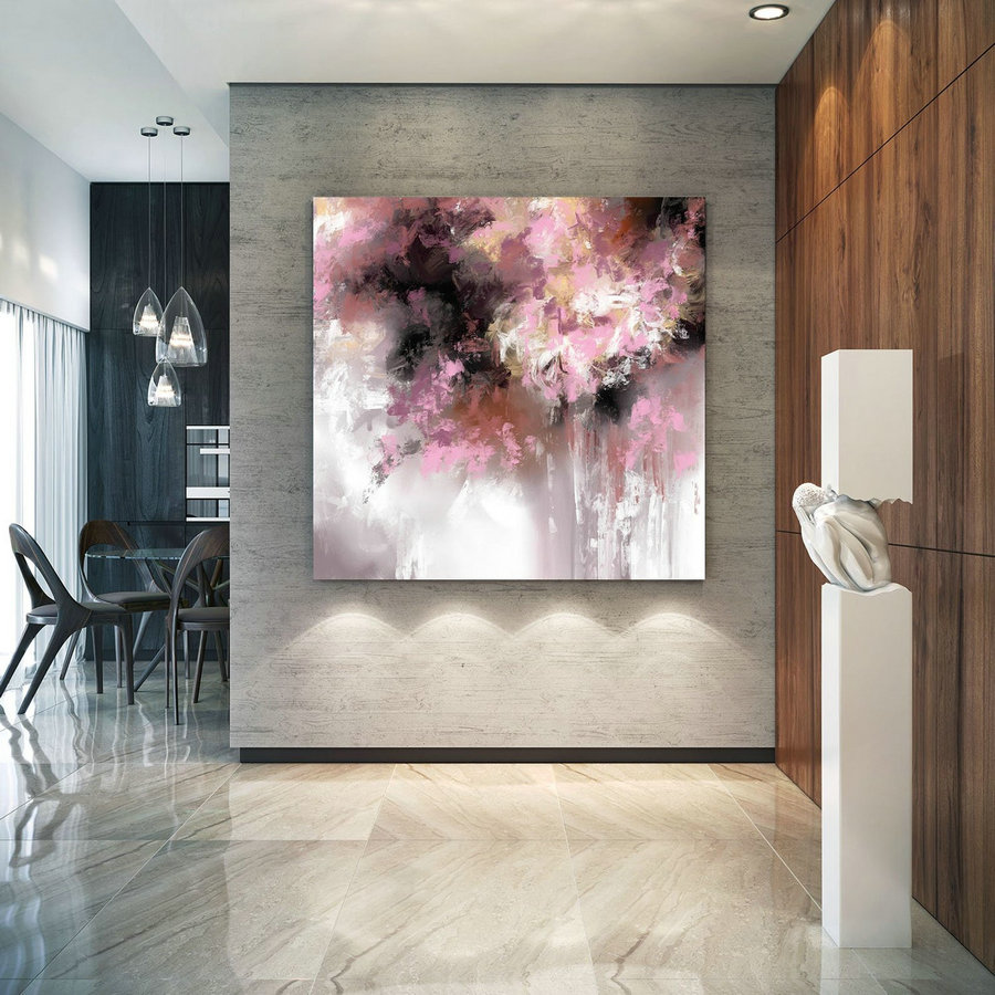 Extra Large Wall Art Palette Knife Artwork Original Painting,Painting on Canvas Modern Wall Decor Contemporary Art, Abstract Painting Pac494