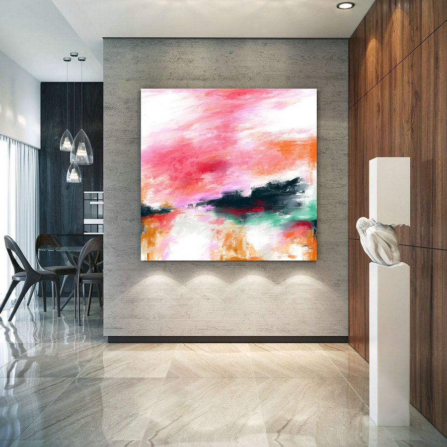 Extra Large Wall Art Palette Knife Artwork Original Painting,Painting on Canvas Modern Wall Decor Contemporary Art, Abstract Painting Pac367