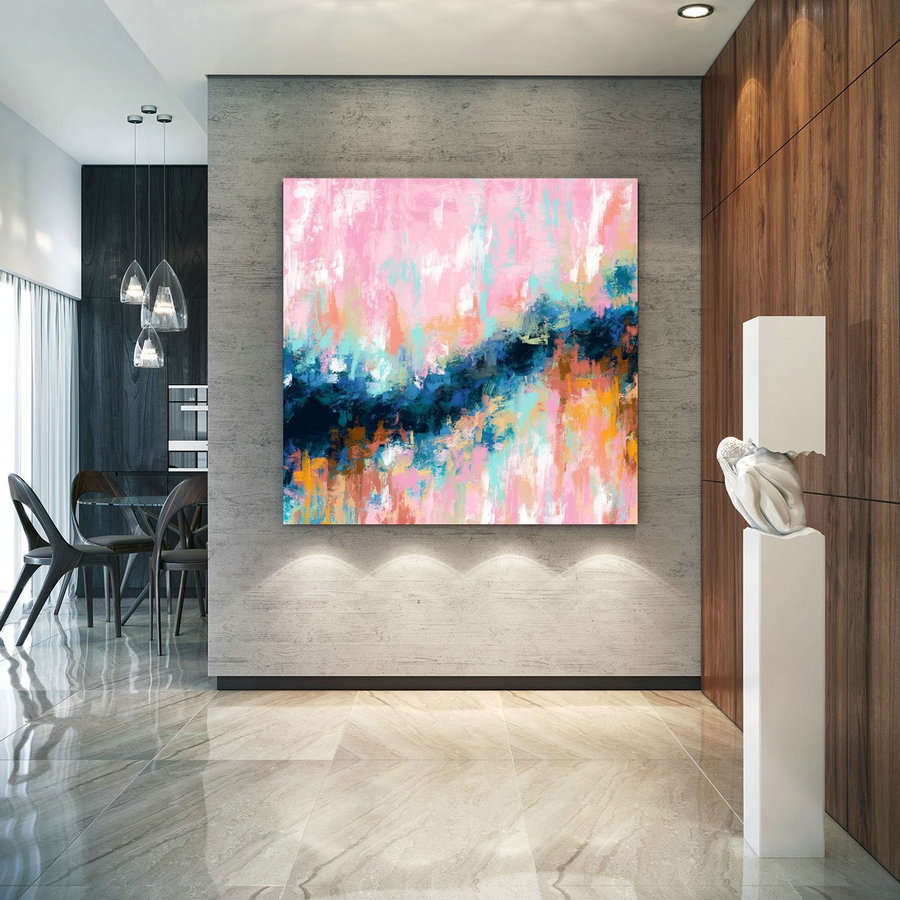 Extra Large Wall Art Palette Knife Artwork Original Painting,Painting on Canvas Modern Wall Decor Contemporary Art, Abstract Painting Pdc070