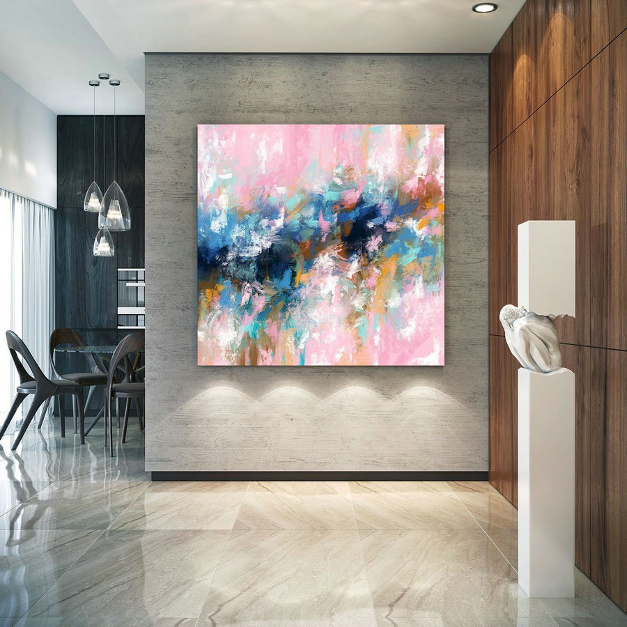 Extra Large Wall Art Palette Knife Artwork Original Painting,Painting on Canvas Modern Wall Decor Contemporary Art, Abstract Painting Pdc075