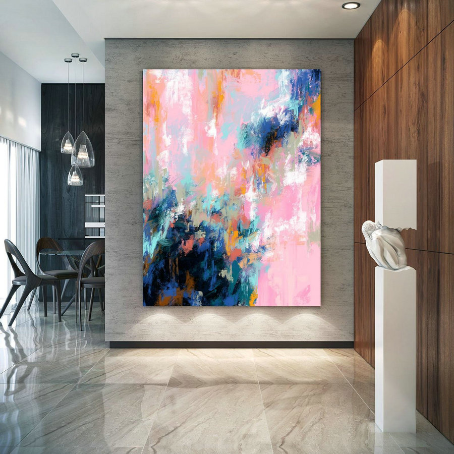 Extra Large Wall Art Palette Knife Artwork Original Painting,Painting on Canvas Modern Wall Decor Contemporary Art, Abstract Painting Pdc067