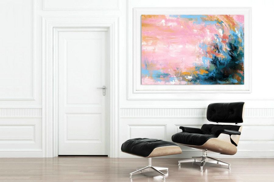 Extra Large Wall Art Palette Knife Artwork Original Painting,Painting on Canvas Modern Wall Decor Contemporary Art, Abstract Painting Pdc077